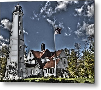 Metal Print featuring the photograph Tower At North Point by Deborah Klubertanz