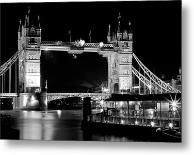 Metal Print featuring the photograph Tower Bridge At Night by Maj Seda