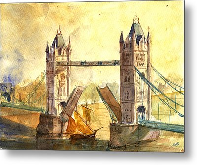 Tower Bridge London Metal Print by Juan  Bosco