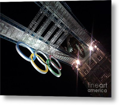Tower Bridge London Olympics Night Metal Print by Ted Williams