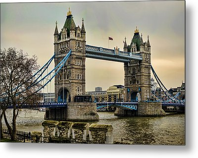 Tower Bridge On The River Thames Metal Print