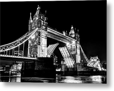 Tower Bridge Opening Metal Print