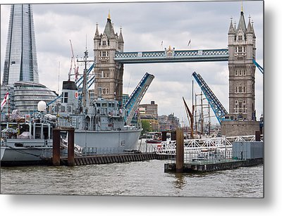 Tower Bridge Opens Metal Print