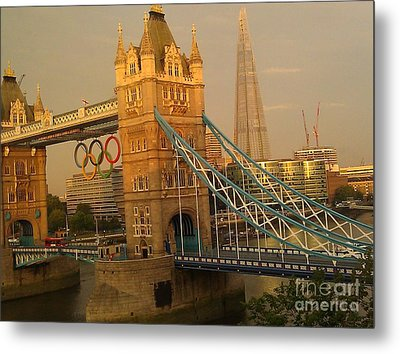 Tower Bridge London Olympics Metal Print by Ted Williams