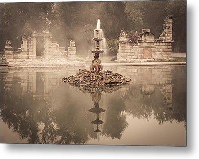 Tower Grove Fountain Metal Print