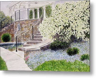 Metal Print featuring the painting Tower Hill Blues by Carol Flagg