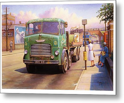 Tower Hill Transport. Metal Print by Mike  Jeffries
