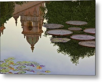 Metal Print featuring the photograph Tower In Lotus Position by Gary Holmes