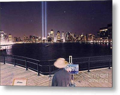 Tower Lights Painter Metal Print by Linda  Parker