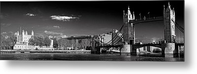 Tower Of London And Tower Bridge Metal Print