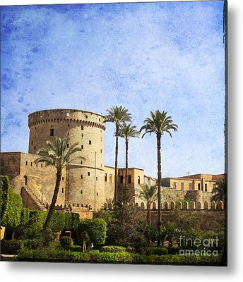 Tower Of Mohamed Ali Citadel In Cairo Metal Print by Mohamed Elkhamisy