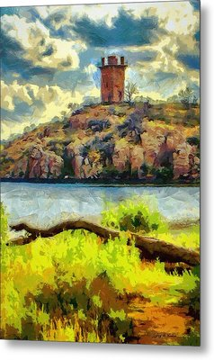 Tower On The Bluff Metal Print