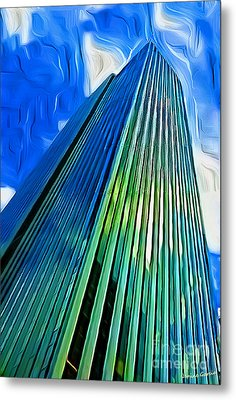 Tower Reflection Metal Print by Janine Garcia