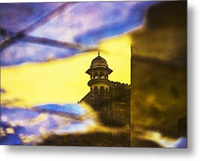 Tower Reflection Metal Print