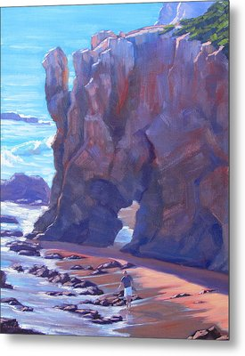 Towering El Matador Plein Air Painting Metal Print by Elena Roche