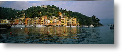 Town At The Waterfront, Portofino, Italy Metal Print by Panoramic Images