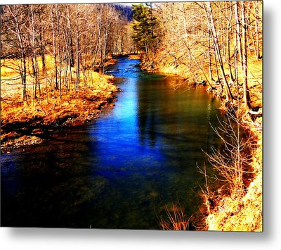 Town Creek Metal Print by Mary Beth Landis