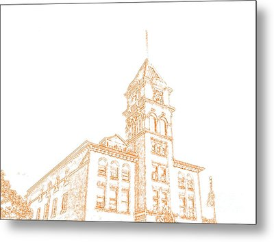 Metal Print featuring the photograph Town Hall Lancaster Ny by Jim Lepard