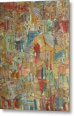 Town I Metal Print by Oscar Penalber