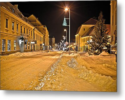 Town In Deep Snow On Christmas  Metal Print by Brch Photography