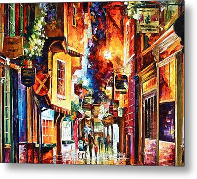 Town In England Metal Print by Leonid Afremov