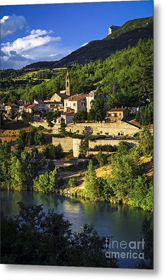 Town Of Sisteron In Provence Metal Print by Elena Elisseeva