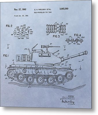 Toy Army Tank Patent Metal Print by Dan Sproul