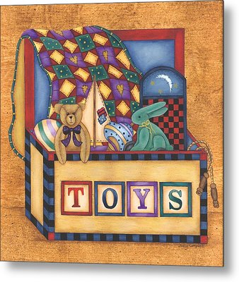 Toy Box Metal Print by Tracy Campbell