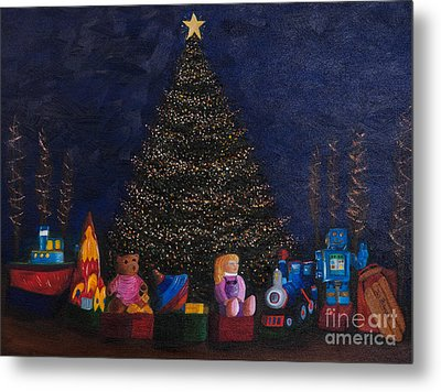 Christmas Toys Metal Print by Iris Richardson