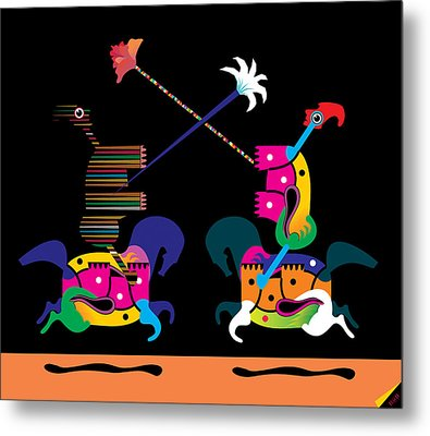 Toy Fight Metal Print by House Brasil