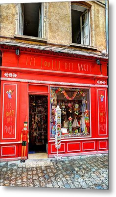 Toy Shop In Old Town Lyon Metal Print