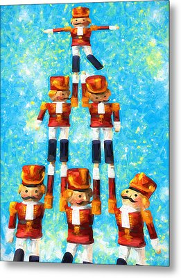 Toy Soldiers Make A Tree Metal Print