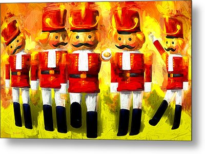 Toy Soldiers Nutcracker Metal Print