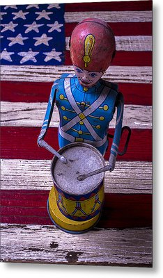 Toy Tin Drummer Metal Print by Garry Gay