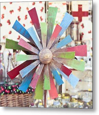 Toy Windmill Metal Print by Tom Gowanlock