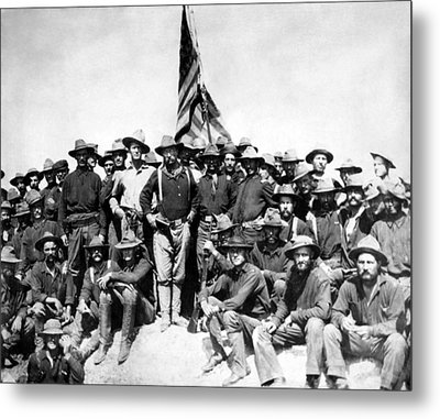 Tr And The Rough Riders Metal Print