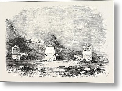 Traces Of The Franklin Expedition The Three Graves At Cape Metal Print by English School