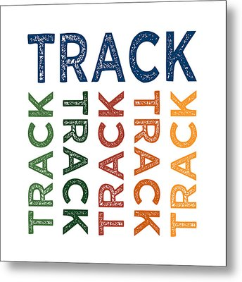 Track Cute Colorful Metal Print