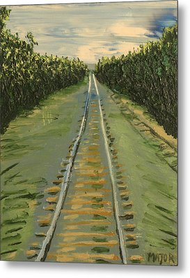 Metal Print featuring the painting Tracks Between Davis And Woodland by Clarence Major