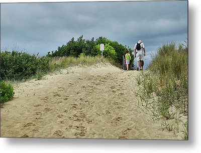 Metal Print featuring the photograph Tracks In The Sand by Barbara Manis