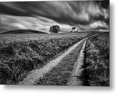 Tracks To Corgarff Castle Metal Print