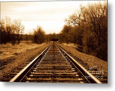 Metal Print featuring the photograph Tracks To No Where by Karen Kersey