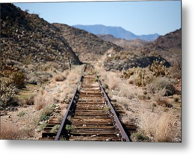 Tracks To Nowhere Metal Print by Peter Tellone