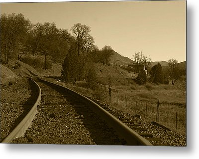 Tracks To The Past Metal Print by Harold Greer
