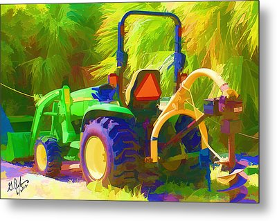 Tractor Metal Print by Gerry Robins