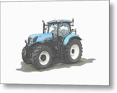 Tractor Metal Print by Roger Lighterness
