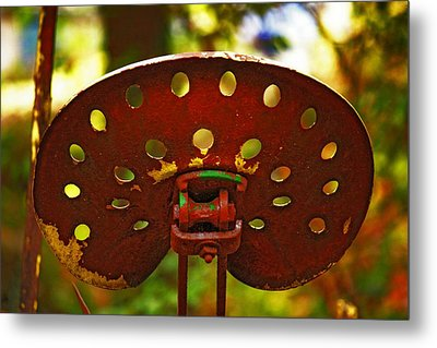 Metal Print featuring the photograph Tractor Seat by Rowana Ray