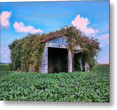 Metal Print featuring the photograph Tractor Shack by Victor Montgomery