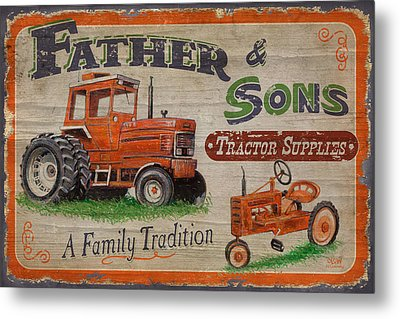 Tractor Supplies Metal Print by JQ Licensing