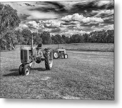 Metal Print featuring the photograph Tractors by Howard Salmon